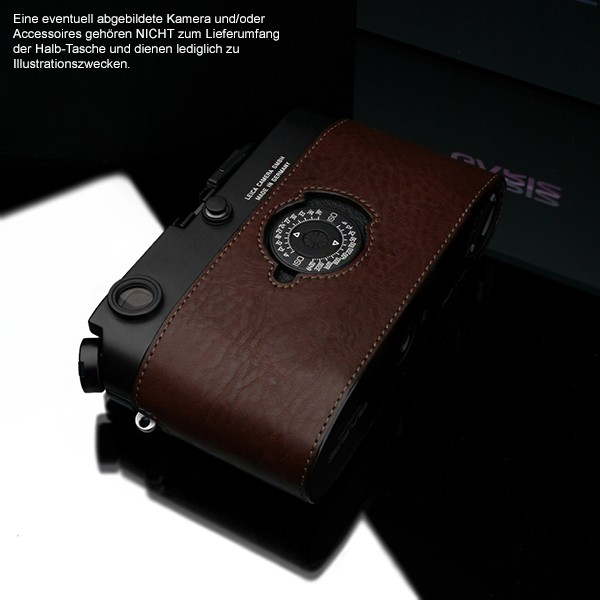 GARIZ BLACK-LABEL real leather half case for Leica M6 / M7 ( BL-LCFMBR ) Bild 6