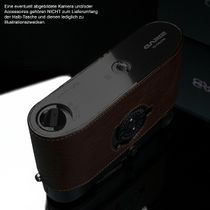 GARIZ BLACK-LABEL real leather half case for Leica M6 / M7 ( BL-LCFMBR ) Bild 5