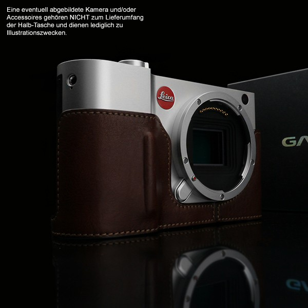 GARIZ BLACK-LABEL real leather half case for LEICA T (Typ 701) / BL-LCTBR Bild 7