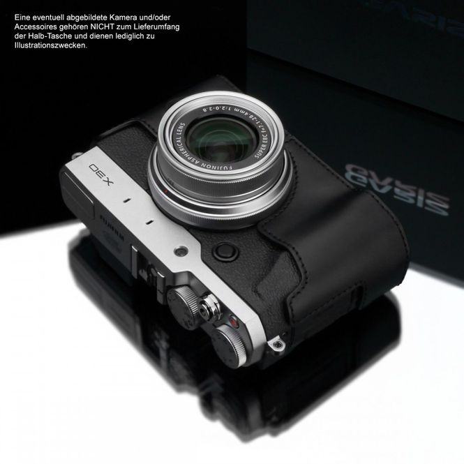 GARIZ Kameratasche Ledertasche Tasche für FUJI FinePix X30 ( XS-CHX30BK ) Bild 4
