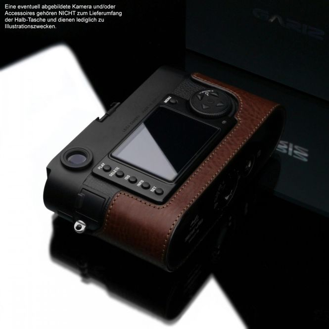 GARIZ BLACK-LABEL real leather half case for LEICA M8 / M9 / M mono / BL-LCM9BR Bild 5