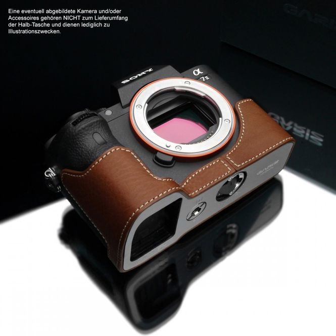 GARIZ leather designer half case for Sony Alpha A7 II A7R Mark II / XS-CHA7IICM Bild 1