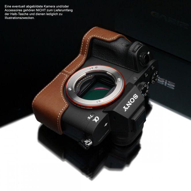 GARIZ leather designer half case for Sony Alpha A7 II A7R Mark II / XS-CHA7IICM Bild 3