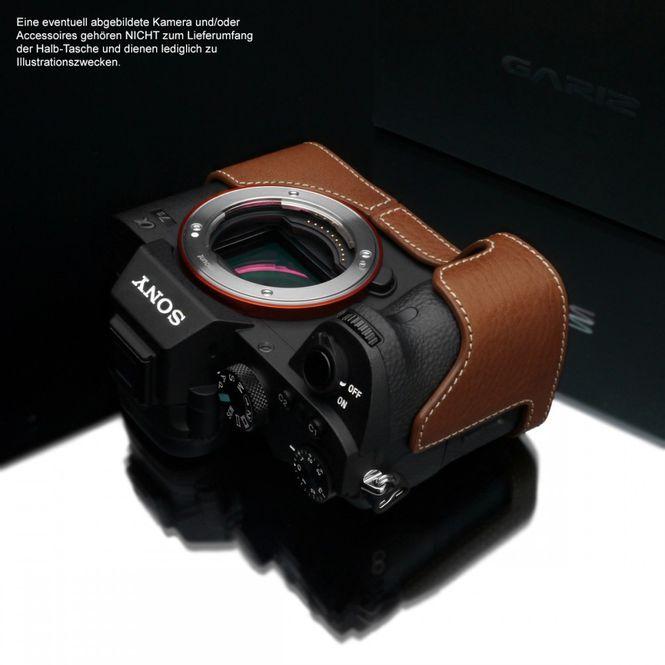 GARIZ leather designer half case for Sony Alpha A7 II A7R Mark II / XS-CHA7IICM Bild 4