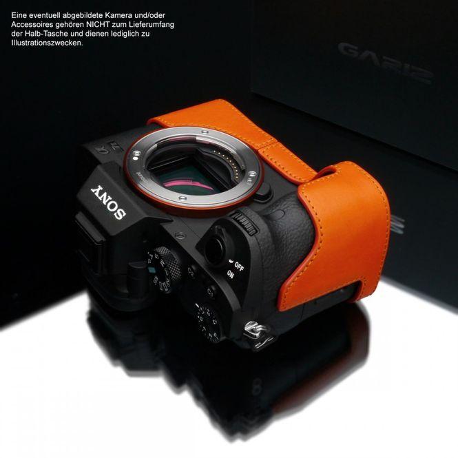 GARIZ leather designer half case for Sony Alpha A7 II A7R Mark II / XS-CHA7IIOR Bild 5