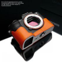GARIZ leather designer half case for Sony Alpha A7 II A7R Mark II / XS-CHA7IIOR Bild 2