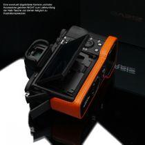 GARIZ leather designer half case for Sony Alpha A7 II A7R Mark II / XS-CHA7IIOR Bild 7