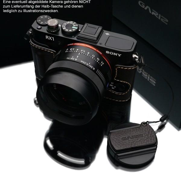 GARIZ real leather designer half case + Capfix for SONY DSC-RX1 RX1R / HG-RX1BR Bild 3