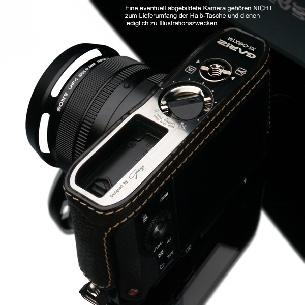 GARIZ real leather designer half case + Capfix for SONY DSC-RX1 RX1R / HG-RX1BR Bild 5
