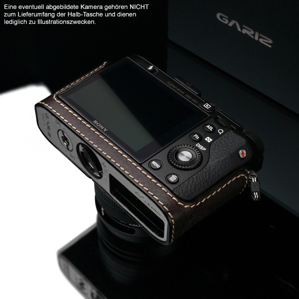GARIZ real leather designer half case + Capfix for SONY DSC-RX1 RX1R / HG-RX1BR Bild 6