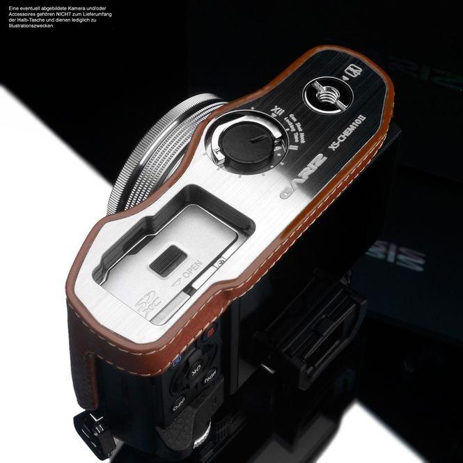 GARIZ Kameratasche Ledertasche Tasche für Olympus E‑M10 Mark II / XS-CHEM10IICM Bild 5