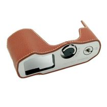 GARIZ real leather designer half case for Olympus E‑M10 Mark II / XS-CHEM10IICH Bild 1