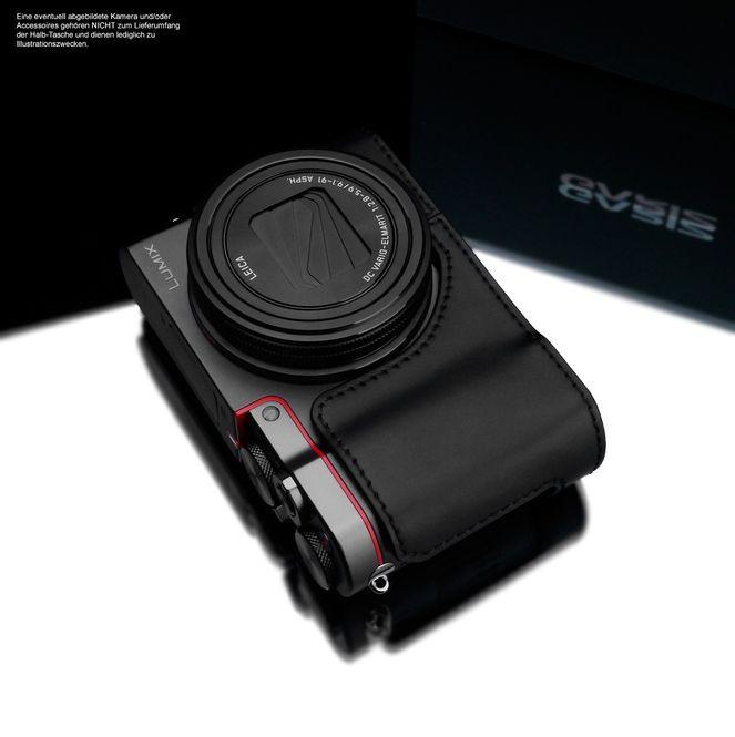 GARIZ real leather designer half case for Panasonic Lumix DMC-TZ101 XS-CHZS110BK Bild 4