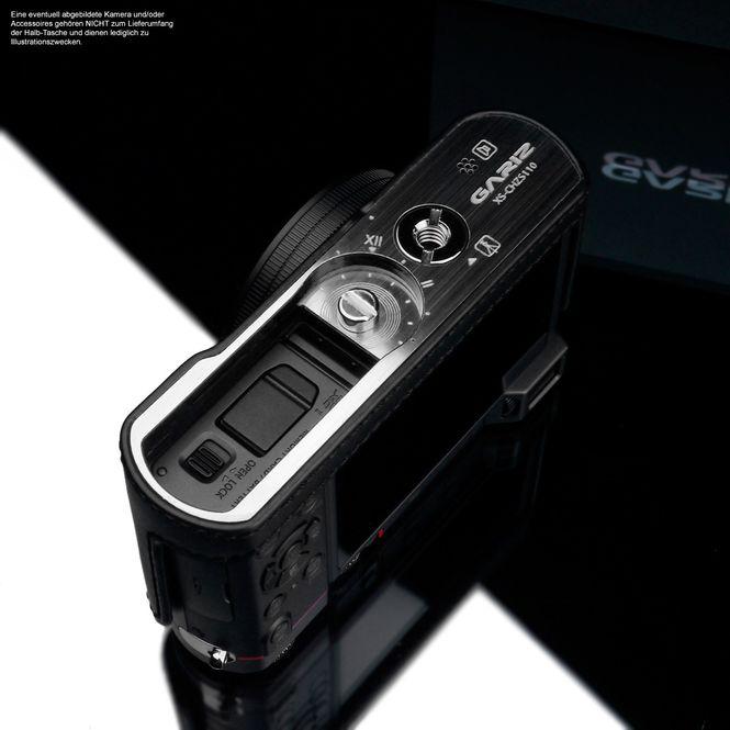 GARIZ real leather designer half case for Panasonic Lumix DMC-TZ101 XS-CHZS110BK Bild 5