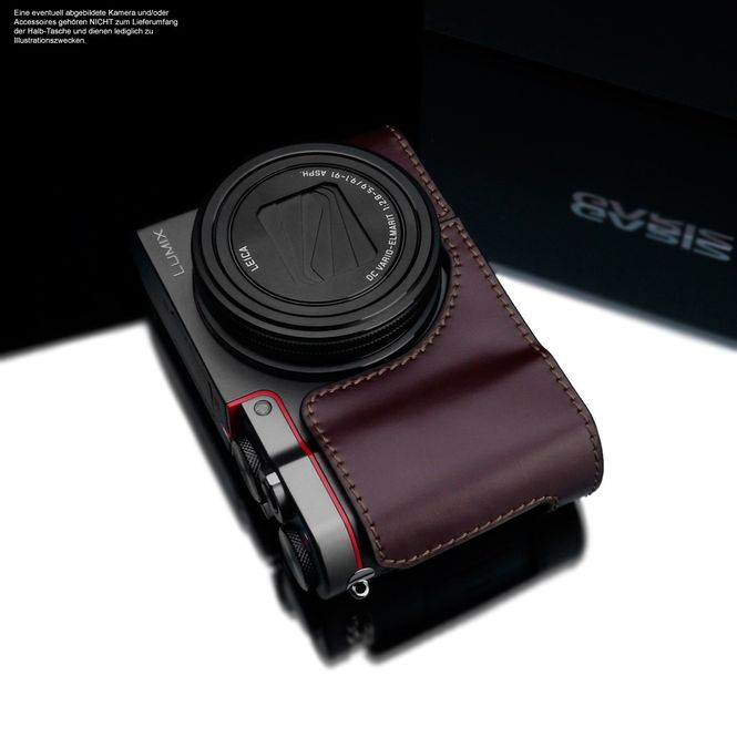 GARIZ real leather designer half case for Panasonic Lumix DMC-TZ101 XS-CHZS110BR Bild 4