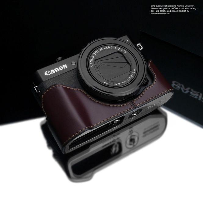 GARIZ real leather half case for Canon PowerShot G7 X Mark II ( XS-CHG7XMK2BR ) Bild 1