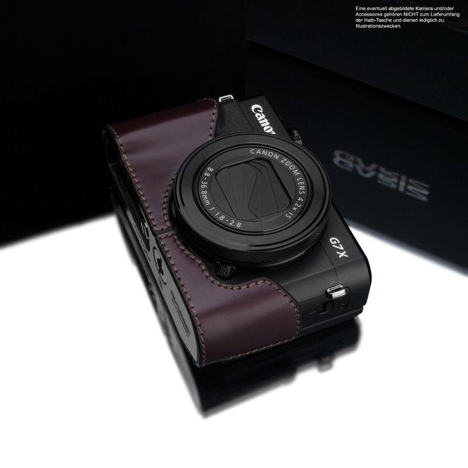 GARIZ real leather half case for Canon PowerShot G7 X Mark II ( XS-CHG7XMK2BR ) Bild 2