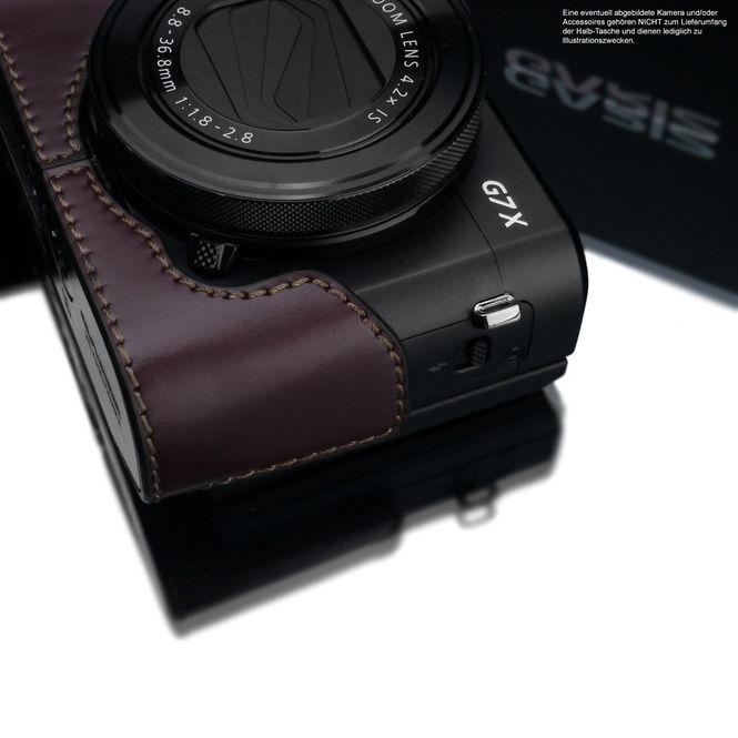 GARIZ real leather half case for Canon PowerShot G7 X Mark II ( XS-CHG7XMK2BR ) Bild 3