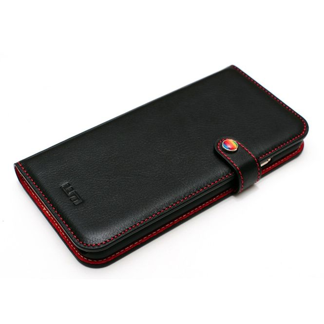 LIM'S Kalbsleder Smartphone-Tasche Handy-Tasche für Apple IPhone 6 6s LE-IP6BDBK Bild 1