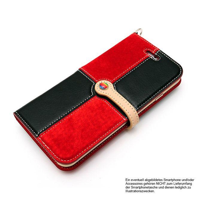 LIM'S Leder Mix Smartphone-Tasche Handy-Tasche für Apple IPhone 6 6s LE-IP6RCBR