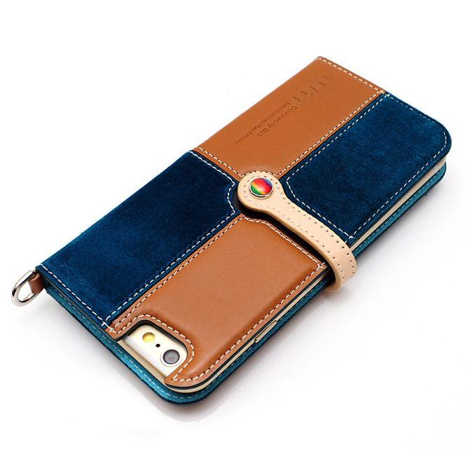 LIM'S Leder Mix Smartphone-Tasche Handy-Tasche für Apple IPhone 6 6s LE-IP6RCBB Bild 2