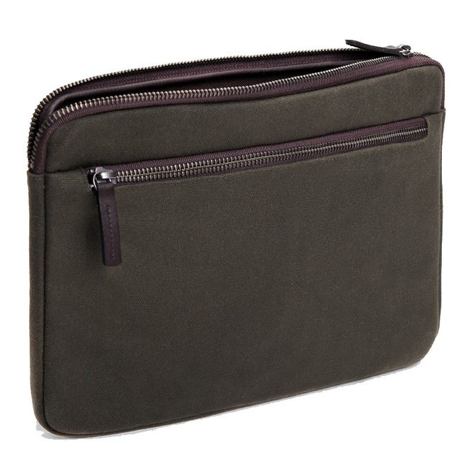 CECILIA Waxed Cotton Laptop Hülle Sleeve Tasche zB für Apple Macbook Air MFD1227