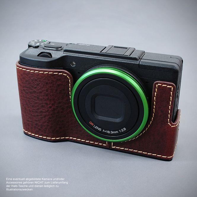 LIM'S Alu Leder Halbtasche Tasche Kameratasche für Ricoh GR II bzw. 2 / RC-GR2BR Bild 4