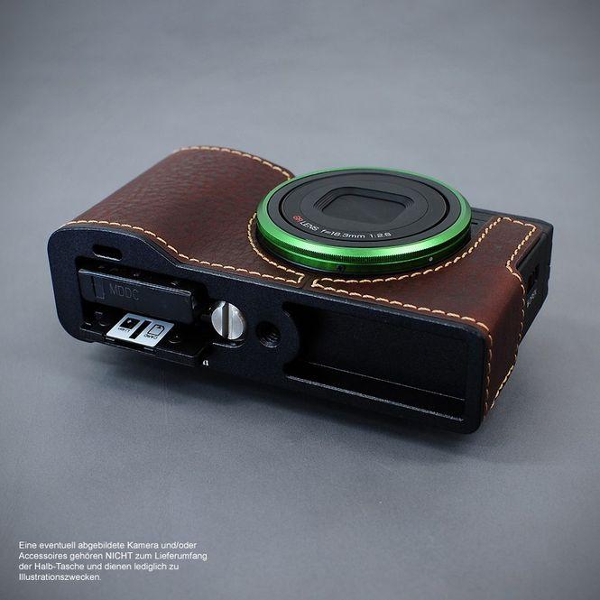 LIM'S Alu Leder Halbtasche Tasche Kameratasche für Ricoh GR II bzw. 2 / RC-GR2BR Bild 5