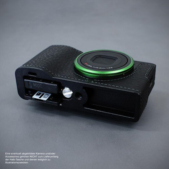 LIM'S Alu Leder Halbtasche Tasche Kameratasche für Ricoh GR II bzw. 2 / RC-GR2BK Bild 5