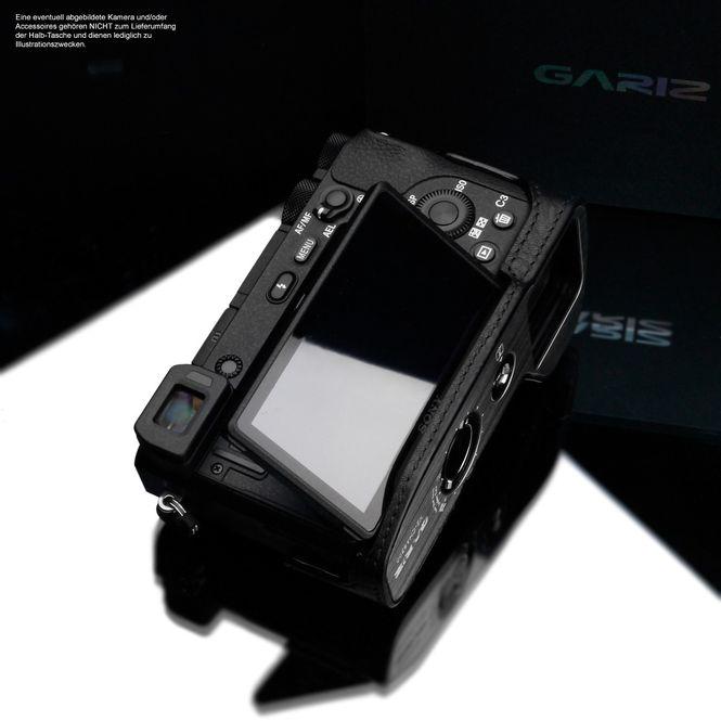 Kameratasche aus Leder für Sony Alpha 6500 A6500 in Schwarz von GARIZ Bild 7