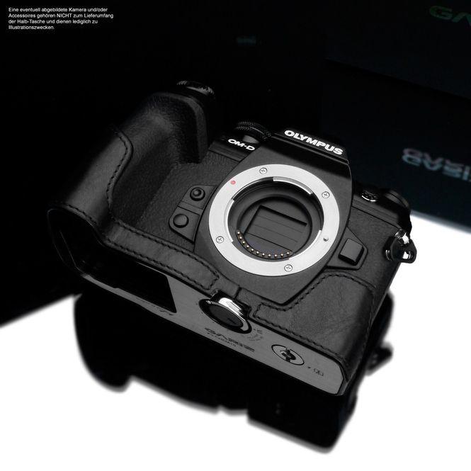 GARIZ real leather designer half case for Olympus E‑M10 Mark II / XS-CHEM10IIBK Bild 4