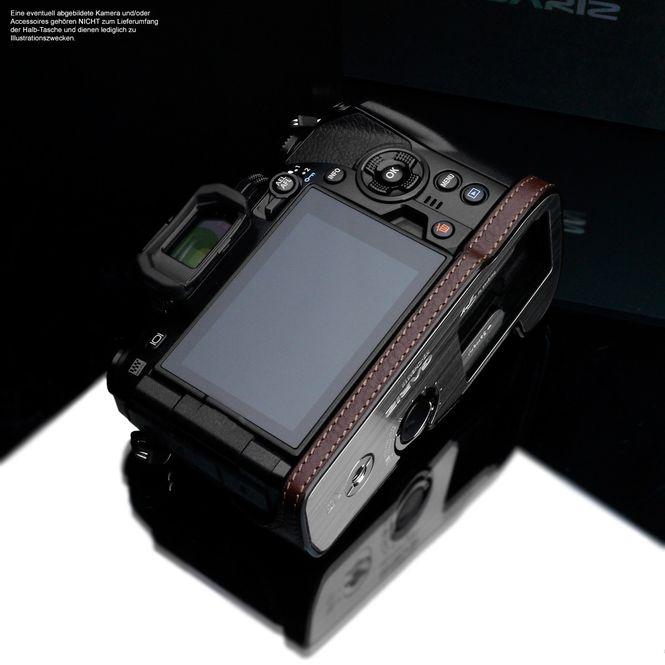 GARIZ real leather designer half case for Olympus E‑M10 Mark II / XS-CHEM10IIBK Bild 7