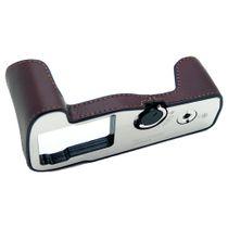 Stylische Kameratasche aus braunem Leder für Olympus OM-D E‑M1 Mark II von GARIZ Bild 1