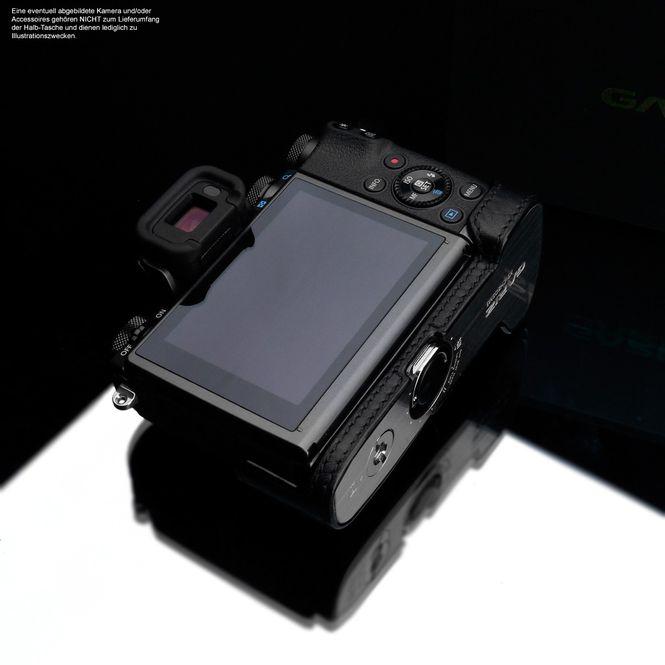 Kameratasche für Systemkamera Canon EOS M5 aus Leder in Schwarz von GARIZ Design Bild 7