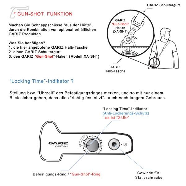 Kameratasche für Systemkamera Canon EOS M5 aus Leder in Schwarz von GARIZ Design Bild 8