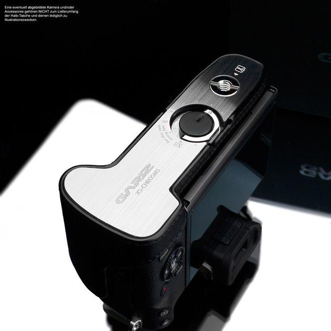 Kameratasche für Systemkamera Canon EOS M5 aus Leder in Schwarz von GARIZ Design Bild 3
