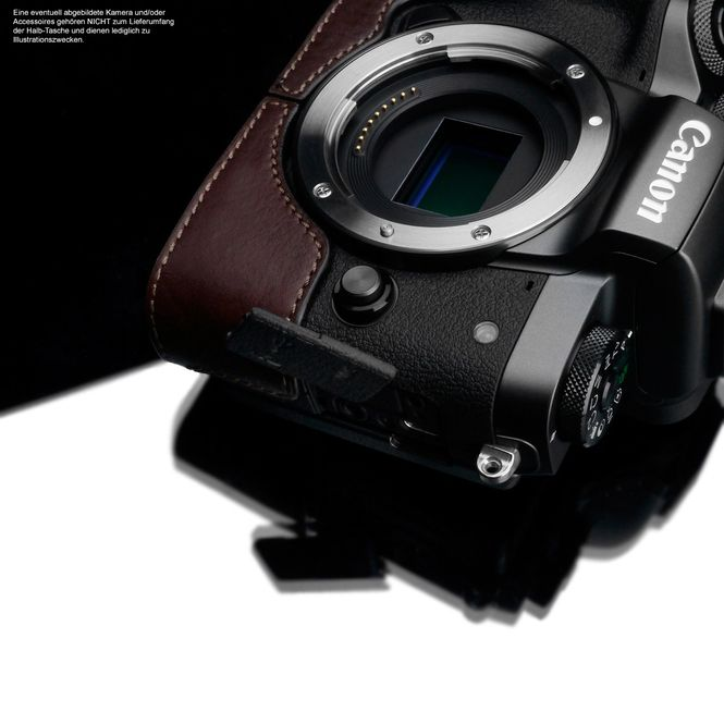 GARIZ real leather designer half case for CANON EOS M camera ( XS-CHMBR ) Bild 5