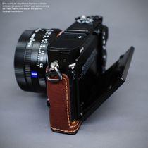 Kameratasche aus Leder für Sony DSC-RX1R2 RX1RII in Braun von Lim's Design Bild 6