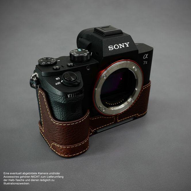Kamera-Tasche Leder für Sony Alpha A7II A7R II A7S Mark II | Braun | von Lim's Bild 4