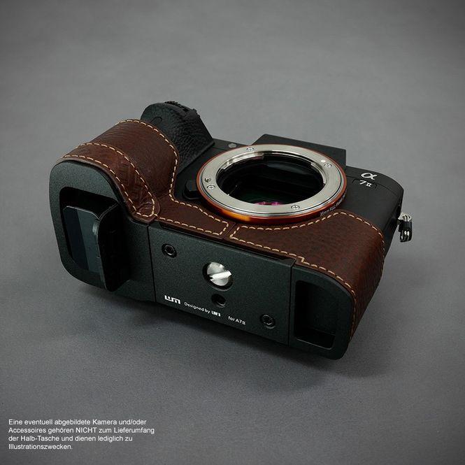 Kamera-Tasche Leder für Sony Alpha A7II A7R II A7S Mark II | Braun | von Lim's Bild 5