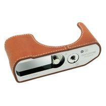 Kameratasche aus Leder für Panasonic Lumix DMC-LX15 DMC-LX10 Hellbraun von GARIZ Bild 1