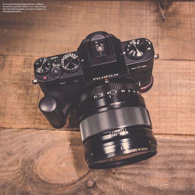 Kamera Handgriff für Fuji Fujifilm X-T10 handgefertigt in USA aus Walnuss Holz Bild 4