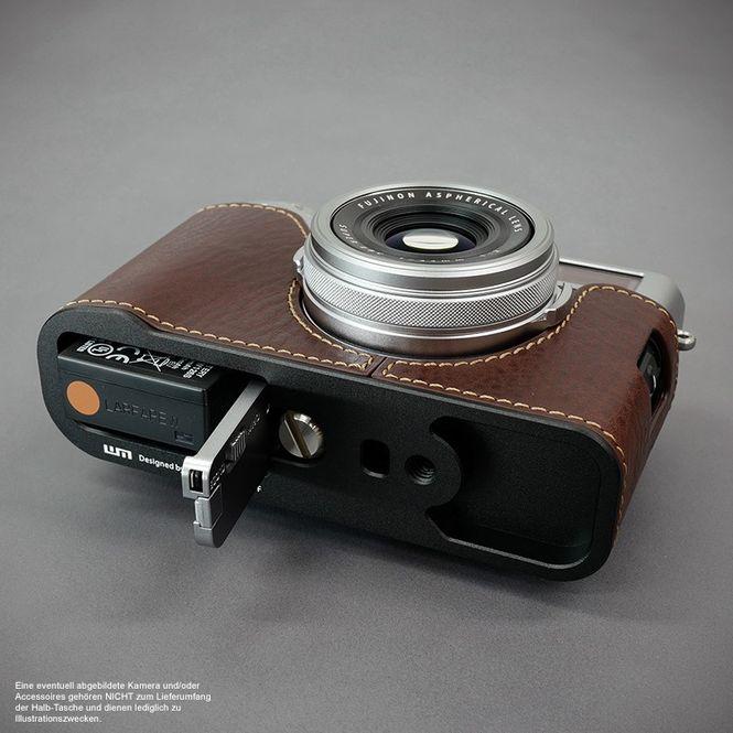 GARIZ real leather designer half case for Fuji FinePix X-T2 ( XS-CHXT2BK ) Bild 4