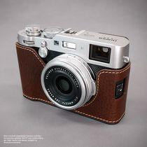 Kameratasche aus Leder für Fuji Fujifilm Finepix X100F in Braun von Lims Design Bild 5