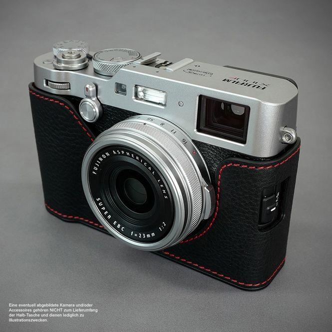 Fototasche aus Leder für Fuji Fujifilm Finepix X100F in Schwarz von Lims Design Bild 5