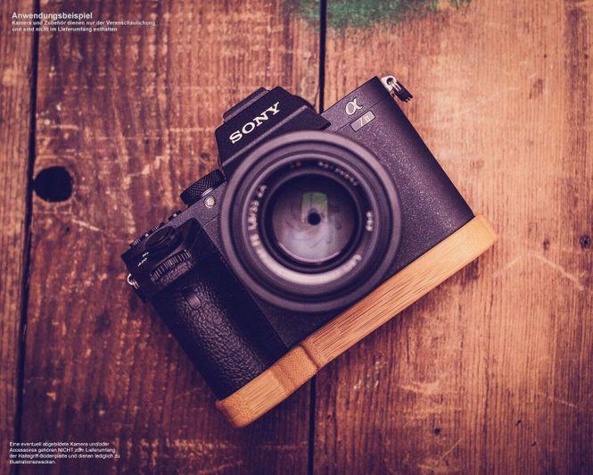 Kameragriff Bodenschutz für Sony A7 III ILCE-7M3 Alpha 7R III A7R III A9 |Bambus Bild 6
