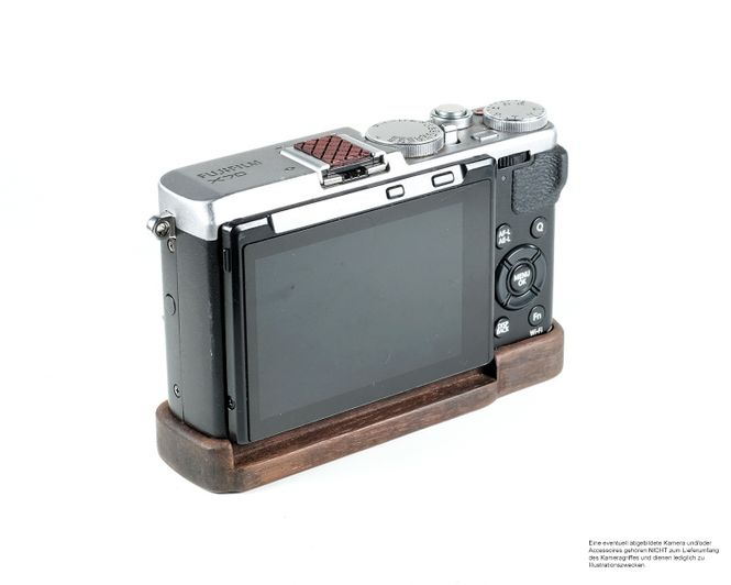 Camera Grip für Fuji Fujifilm FinePix X70 handgefertigt in USA aus Walnuss Holz Bild 5