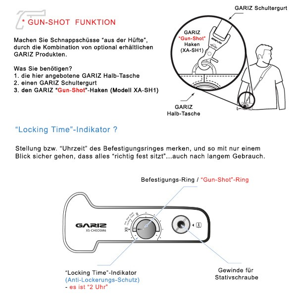 Leder Kameratasche für Canon EOS M6 | Braun | italienisches Leder | von Gariz Bild 8