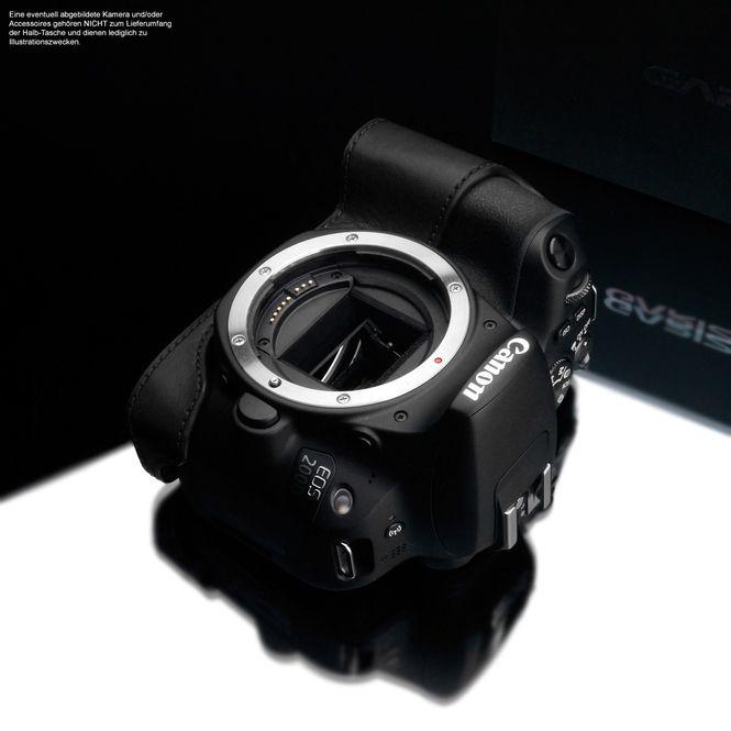 Kameratasche aus Leder für Canon EOS 200D von Gariz | Schwarz | XS-CH200DBK Bild 3