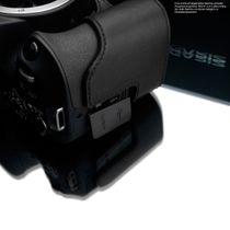 Kameratasche aus Leder für Canon EOS 200D von Gariz | Schwarz | XS-CH200DBK Bild 5